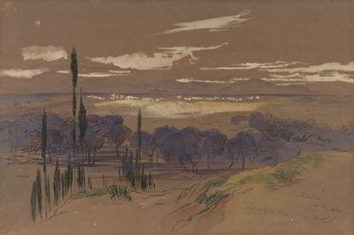 Corfu - Lefkimi, 1862, by Edward Lear