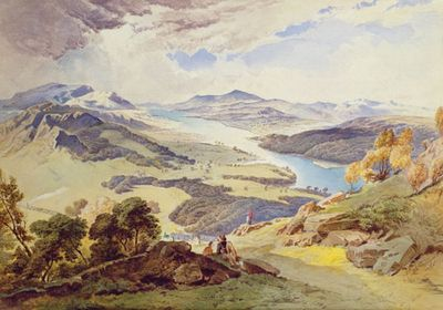 Windermere from Ormot Head, by William Turner