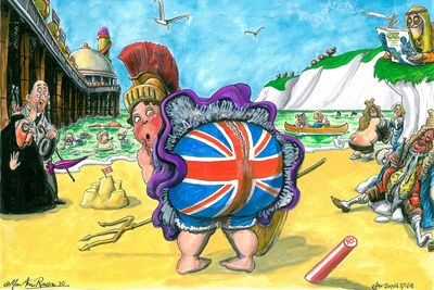 Rude Britannia illustration by Martin Rowson