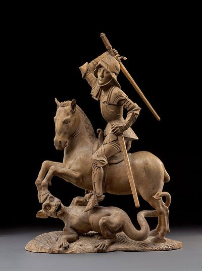 St George fighting the Dragon by Tilman Riemenschneider