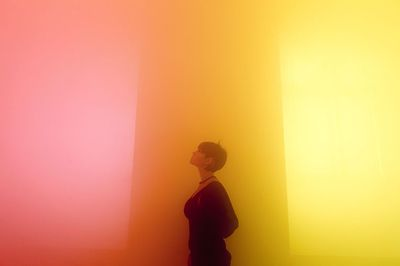 yellowbluepink by Ann Veronica Janssens, Wellcome Collection. Copyright Guy Corbishley/Alamy