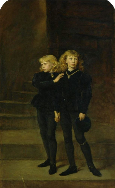 'The Two Princes Edward and Richard in the Tower, 1483' by Sir John Everett Millais, 1878