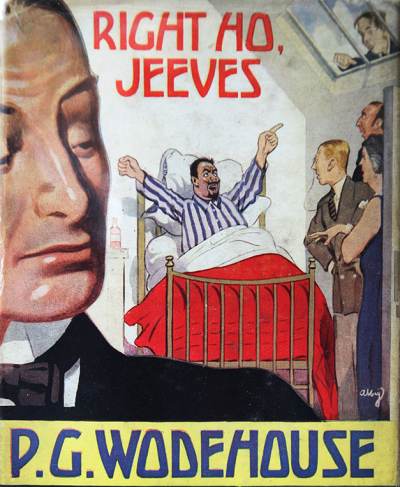'Right Ho Jeeves', the original cover from the 1934 British first edition