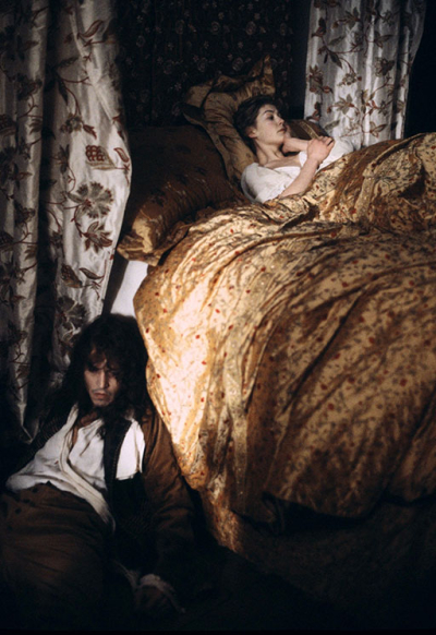 Johnny Depp and Rosamund Pike in The Libertine, 2004