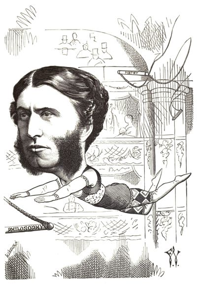 Matthew Arnold caricatured by F Waddy, 1872