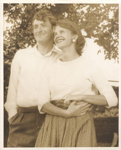 145, PLATH (SYLVIA) Two photographs given by Sylvia Plath to her mother Aurelia,
