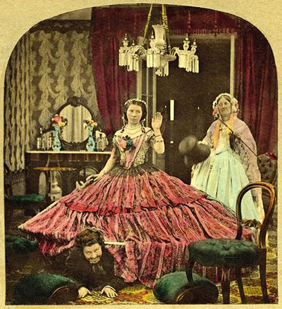 The Suspicion, by Michael Burr; from Crinolines: Fashion's most magnificent disaster