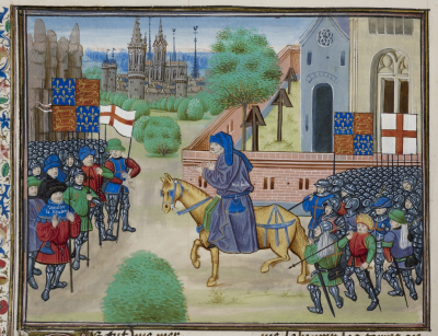 Peasants' Revolt, from Chroniques de France et d'Angleterre, Book II